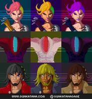 Gunkatana: Characterportraits Variations