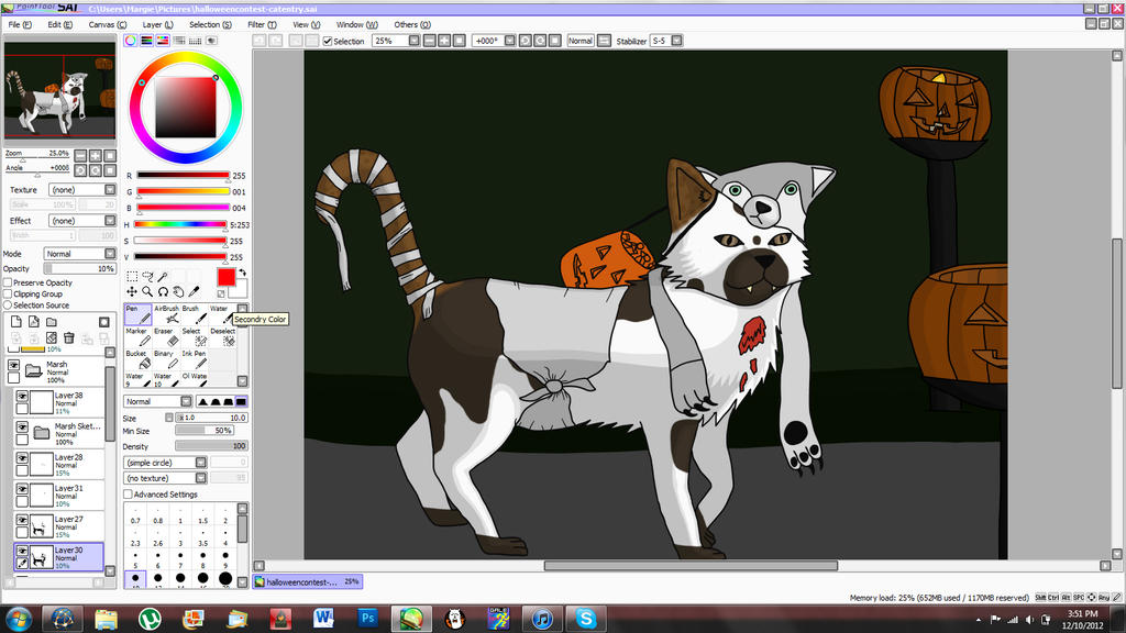 It's a cat and a WIP(2) by Margie22