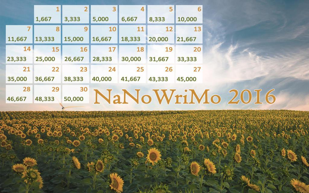 2016 NaNo Calendar - GoneLookingForMyself by Margie22