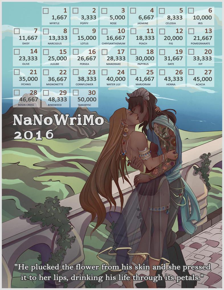 2016 NaNo Calendar - cydare by Margie22