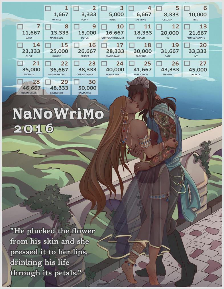 2016 NaNo Calendar - cydare [edit] by Margie22