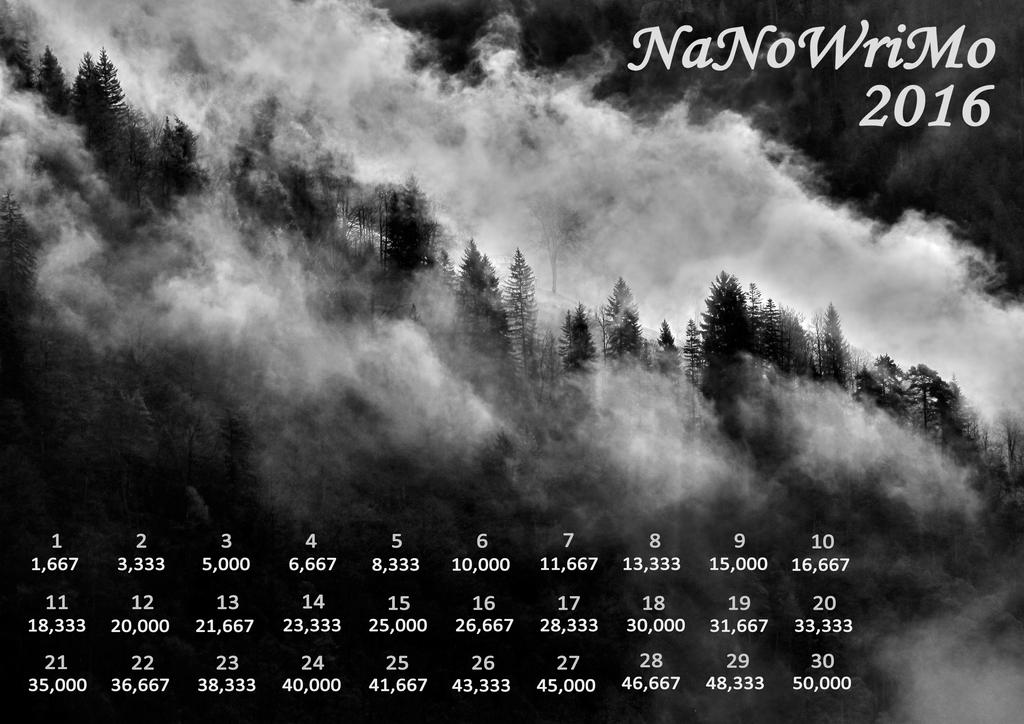 2016 NaNo Calendar - Fixed-dot-dice by Margie22