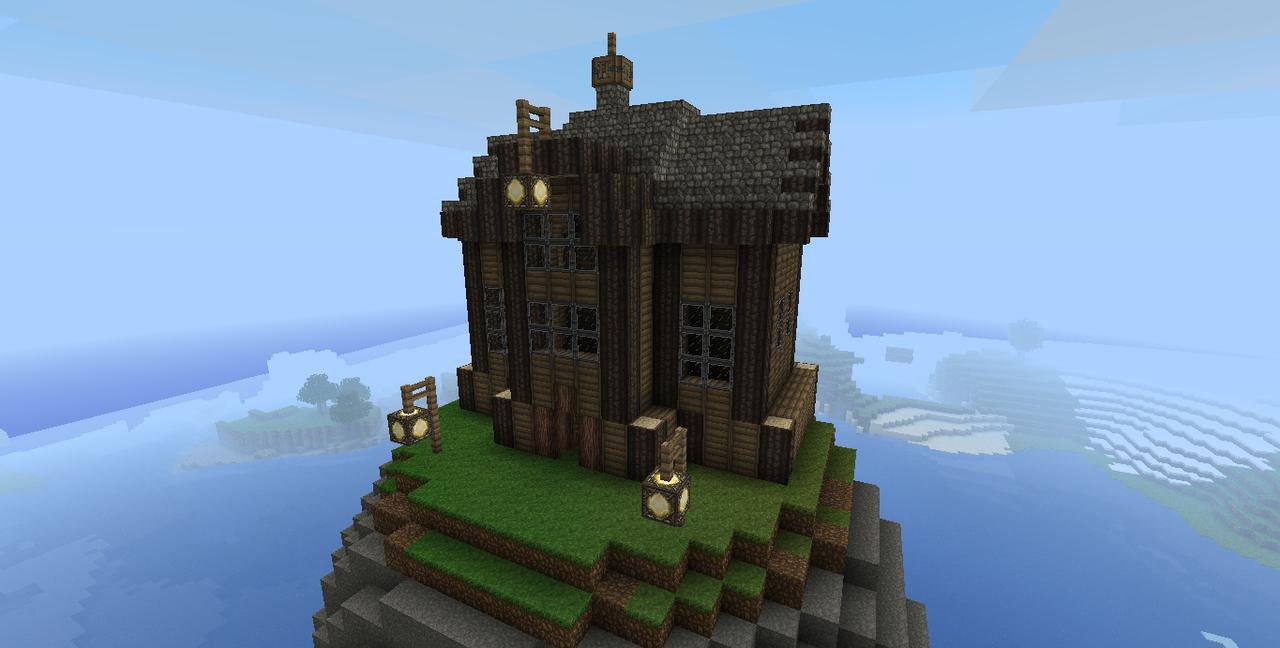 Steampunk minecraft house by markecgrad on deviantart for Minecraft exterior design ideas