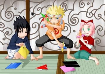 Naruto - Paper Ninjas by poch