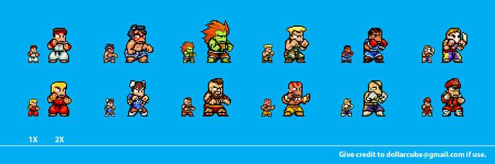 Street Fighter 2 Sprites