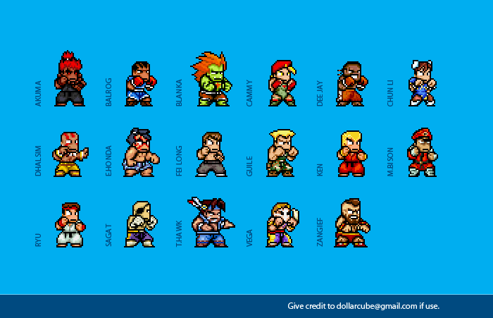 Super Street Fighter 2 Sprites By Dollarcube On Deviantart