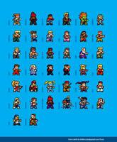 Street Fighter Alpha Max Sprites by dollarcube