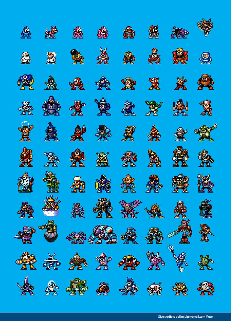 Mega Man 1-10 Classic Sprites by dollarcube
