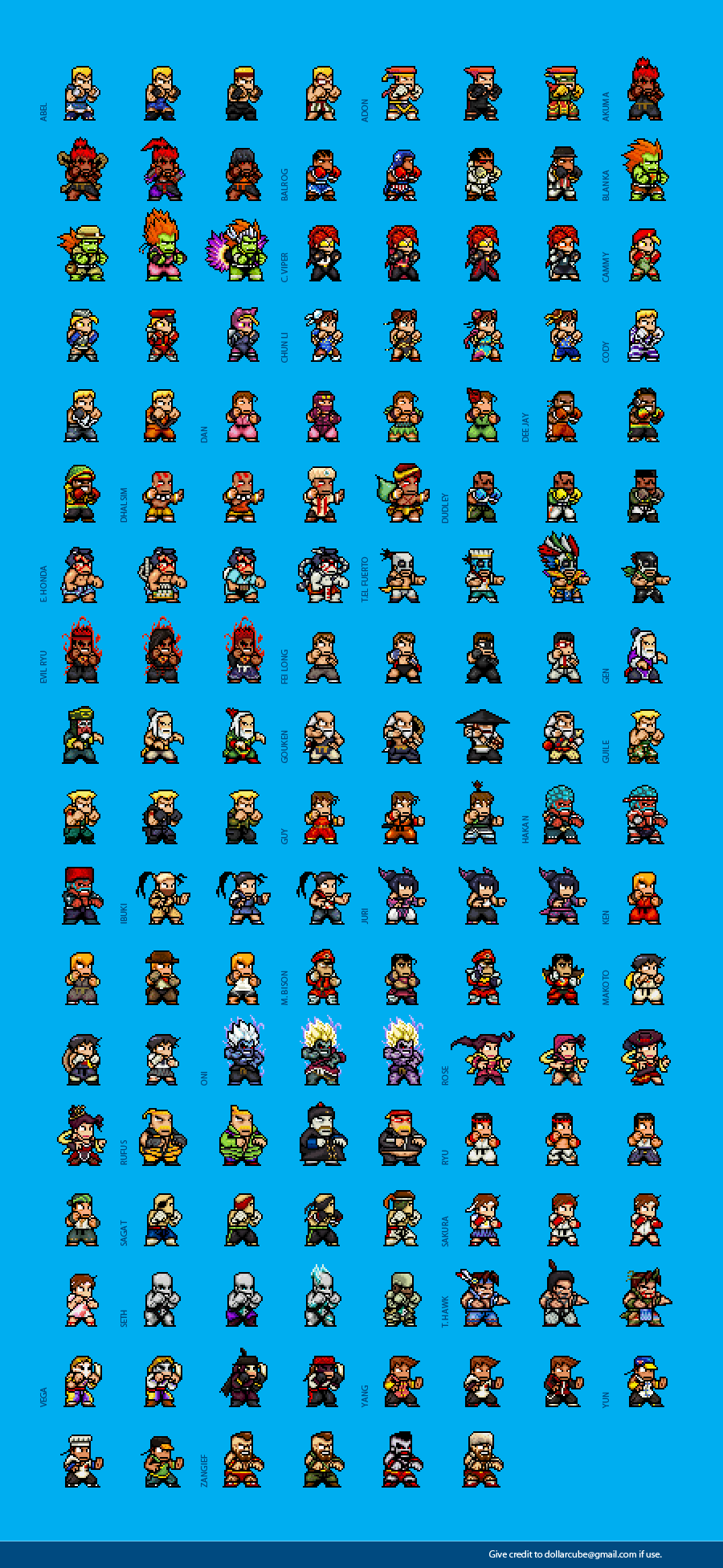 Super Street Fighter 4 Sprites By Dollarcube On Deviantart