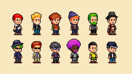 Pixel Character by dollarcube