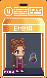 004 Emma Pixel Action Figure Box