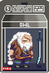 005 Owl Pixel Action Figure Box
