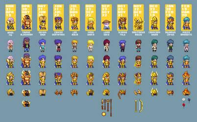12 Gold Saints