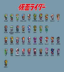 All SD Kamen Rider