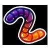 Purple Orange Jelly Worm
