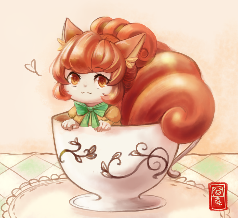 07.19.2016 Vulpix in a Cup! by haeunee2