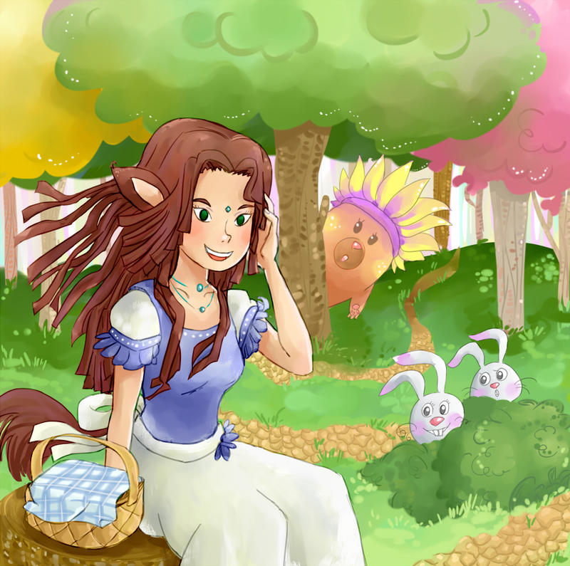 Iris-chan in the magic forest