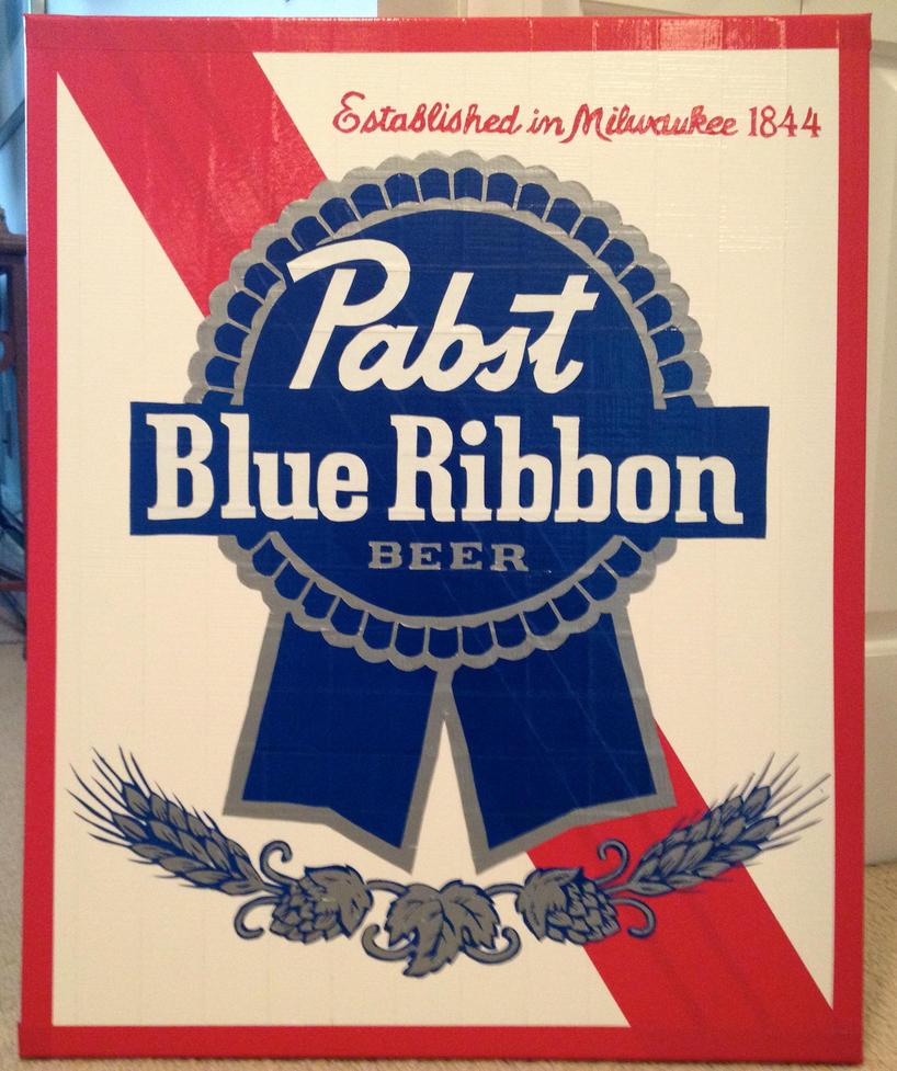 Pabst Blue Ribbon by  Pabst Blue Ribbon Logo Wallpaper