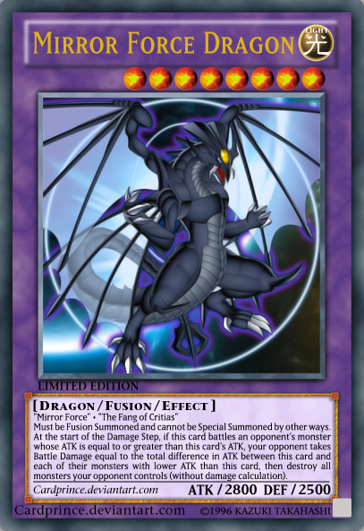 The gallery for yugioh mirror force dragon for Mirror force