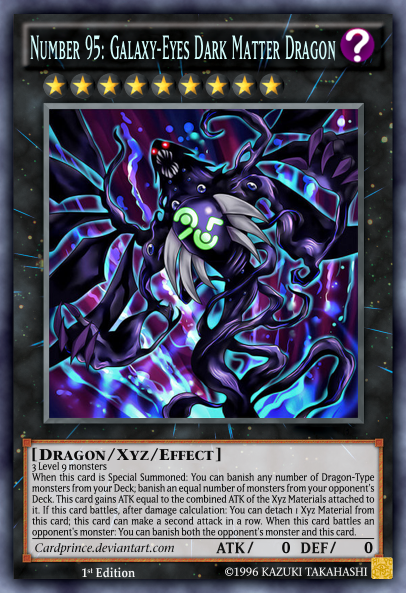 Number 95: Galaxy-Eyes Dark Matter Dragon by CardPrince