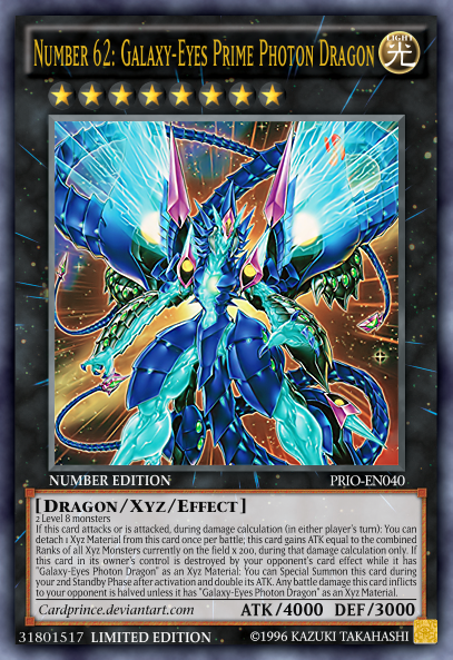 Number 62  Galaxy-Eyes Prime Photon Dragon by CardPrinceYugioh Number 62 Galaxy Eyes Prime Photon Dragon