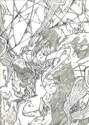 Spiderman vs Venom by marvelmania