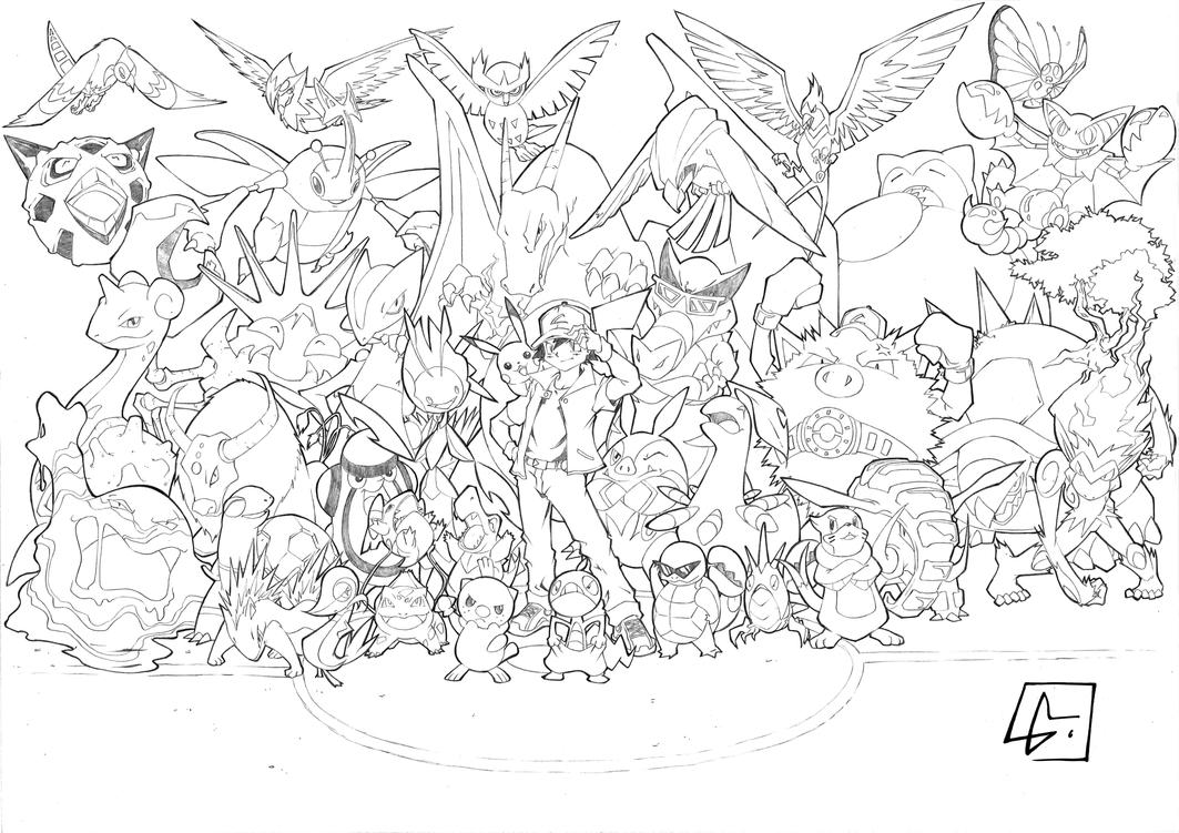 Ash Greninja Coloring Page Coloring Pages