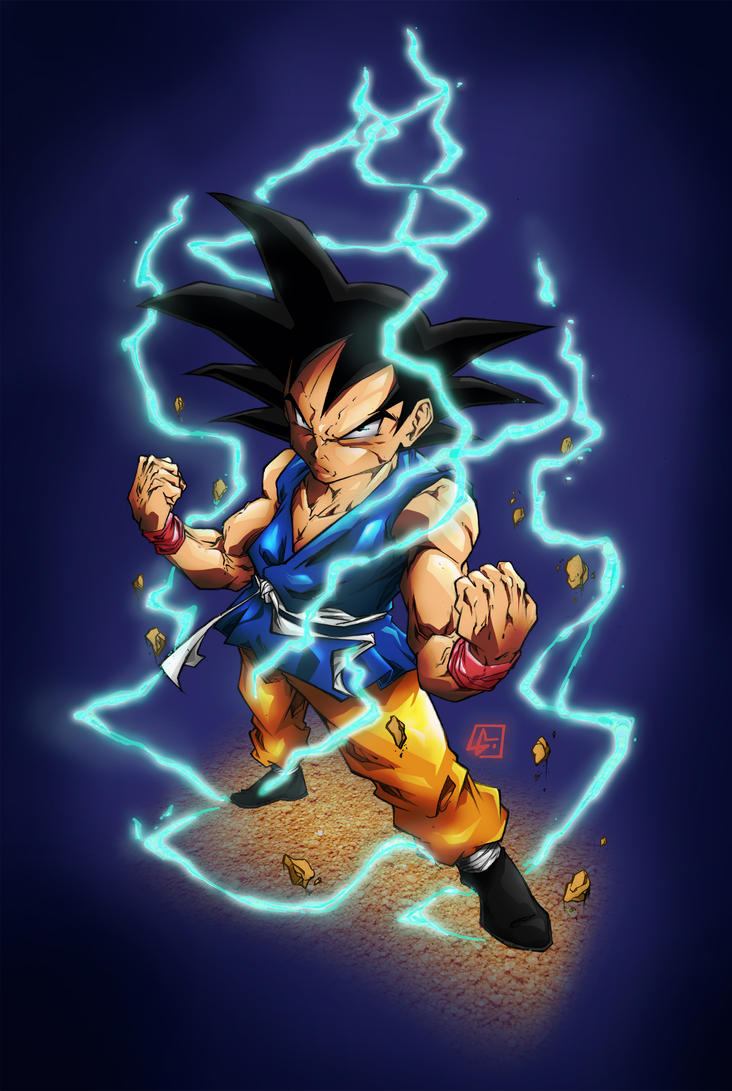 Goku from GT colored by marvelmania