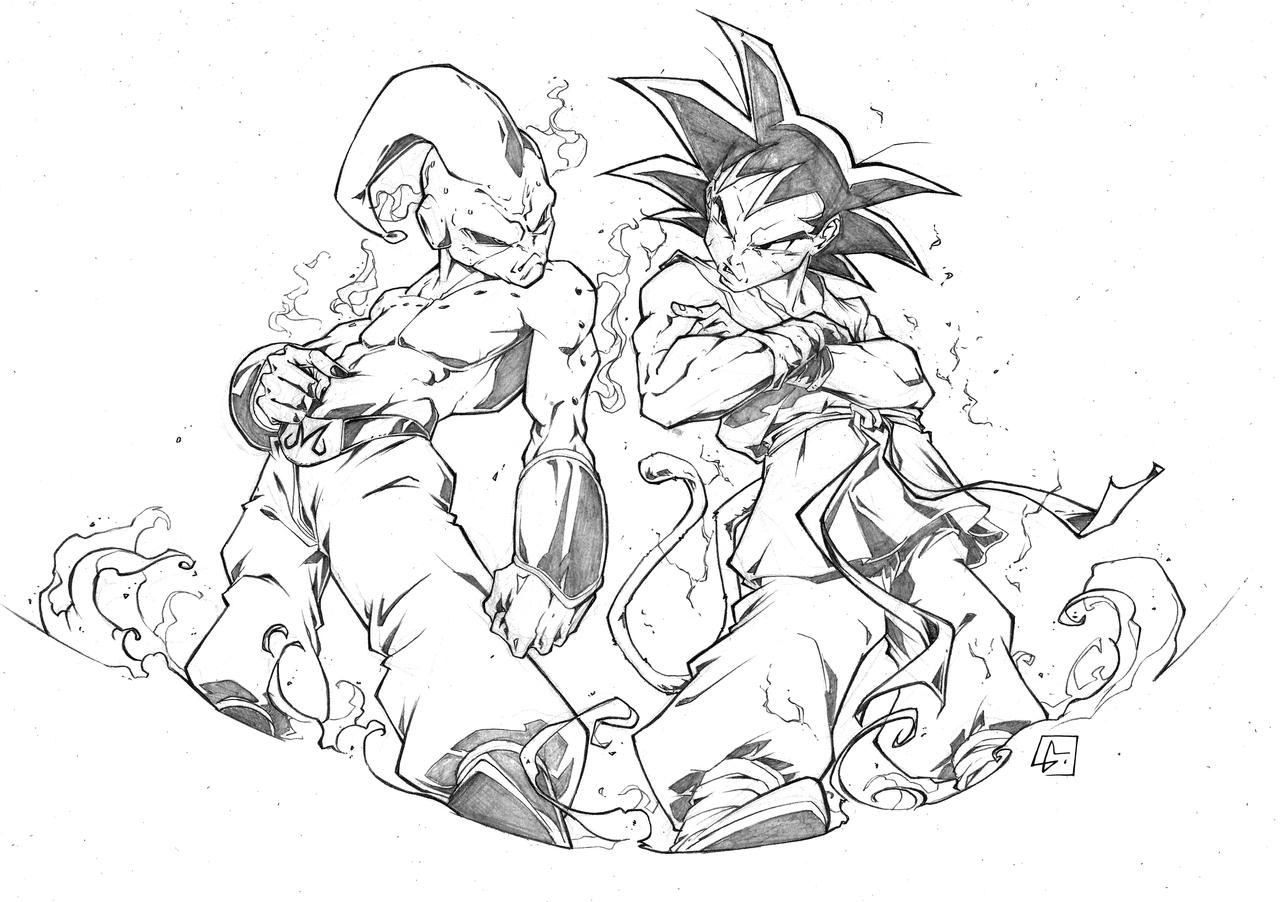 Buu Vs Goku By Marvelmania On DeviantArt