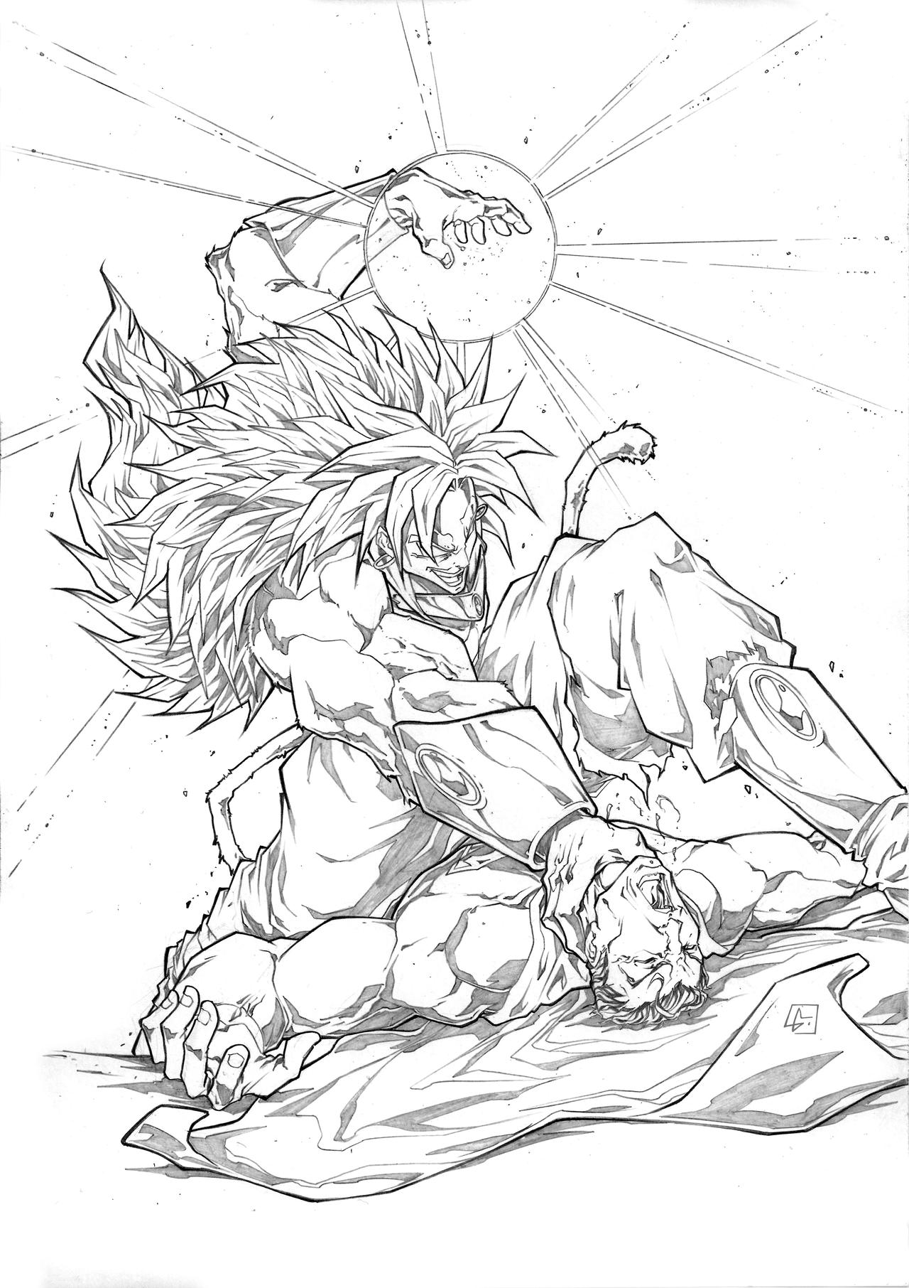ssj5 broly vs superman by marvelmania on deviantart