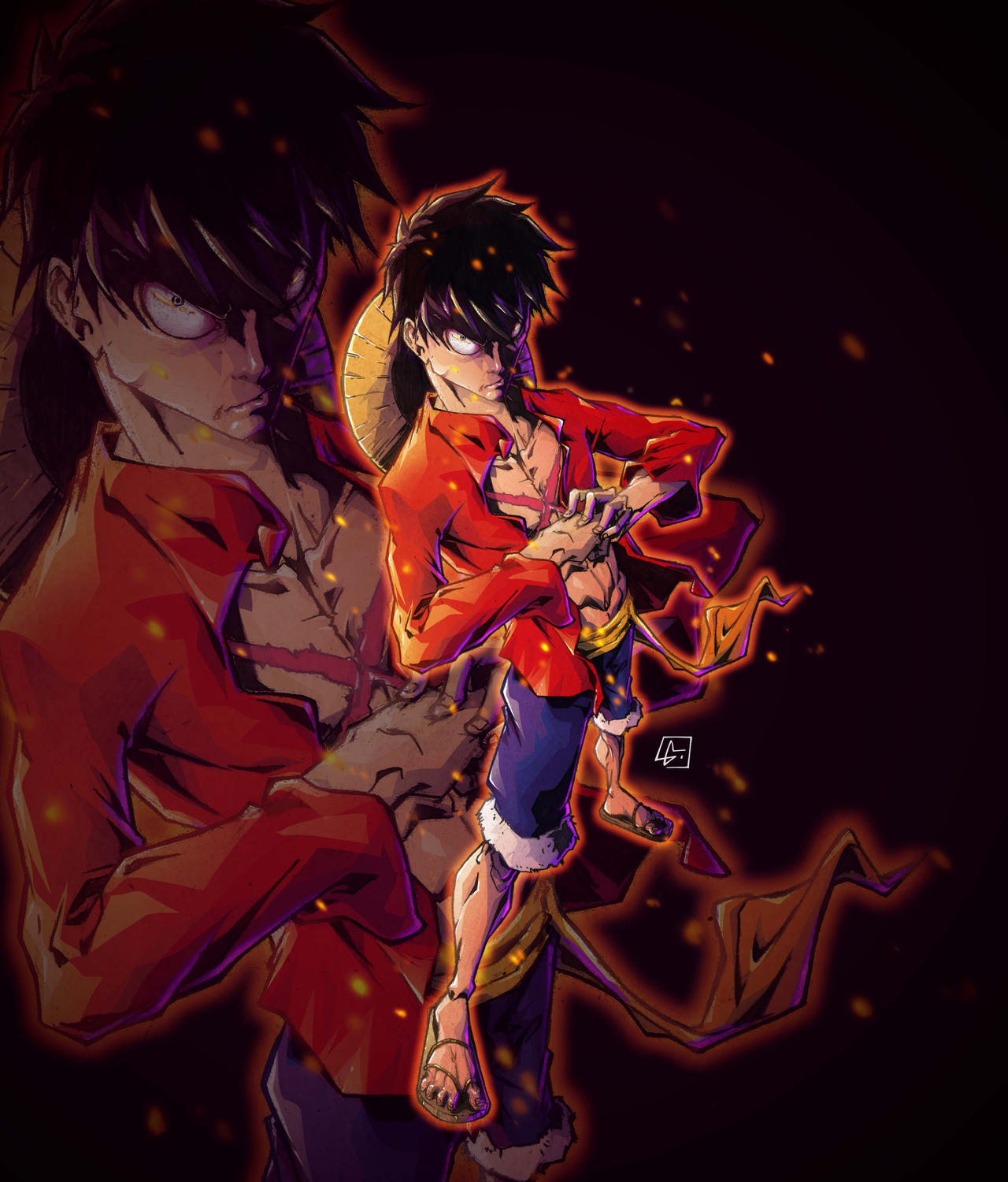 Luffy Mad Colored By Marvelmania On DeviantArt Angry Wallpaper