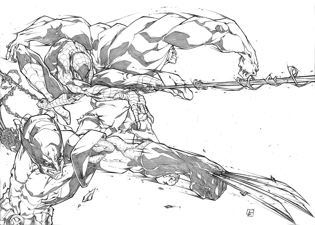 Wolverine Spiderman and Hulk ATTACK by marvelmania on ...