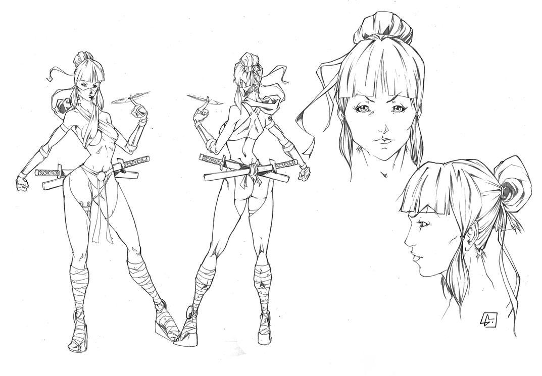 Deviantart Character Design Commission : Ninja woman character design commission by marvelmania on