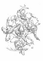MINI TMNT by marvelmania