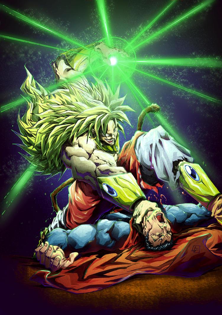 Broly vs Superman color da by marvelmania on DeviantArt