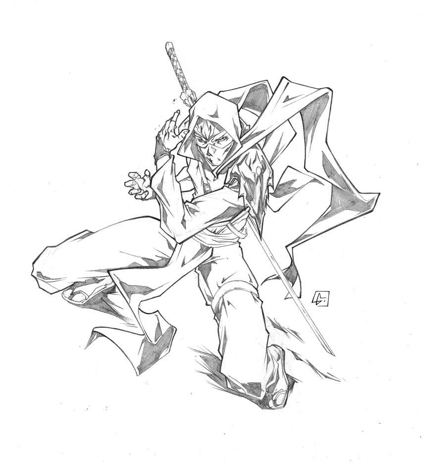 how to draw a cool ninja