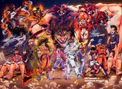 MY FAVORITE ANIME SHOWS EVER Colored
