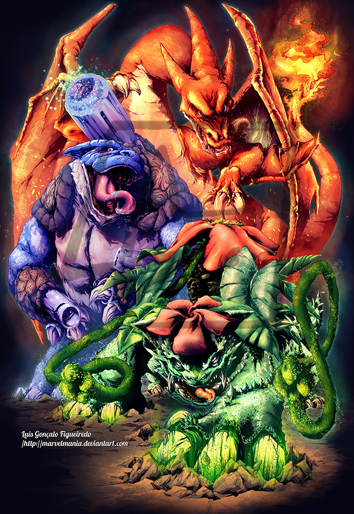 First pokemon mega evolution starters by marvelmania on deviantart - How to mega evolve a pokemon ...