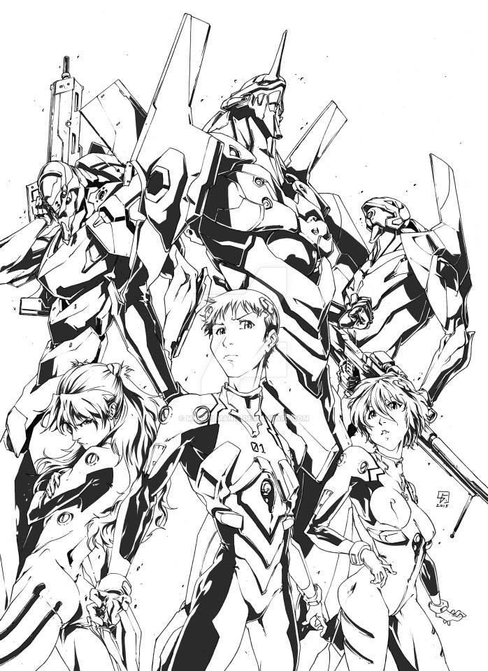 Evangelion Piece by marvelmania