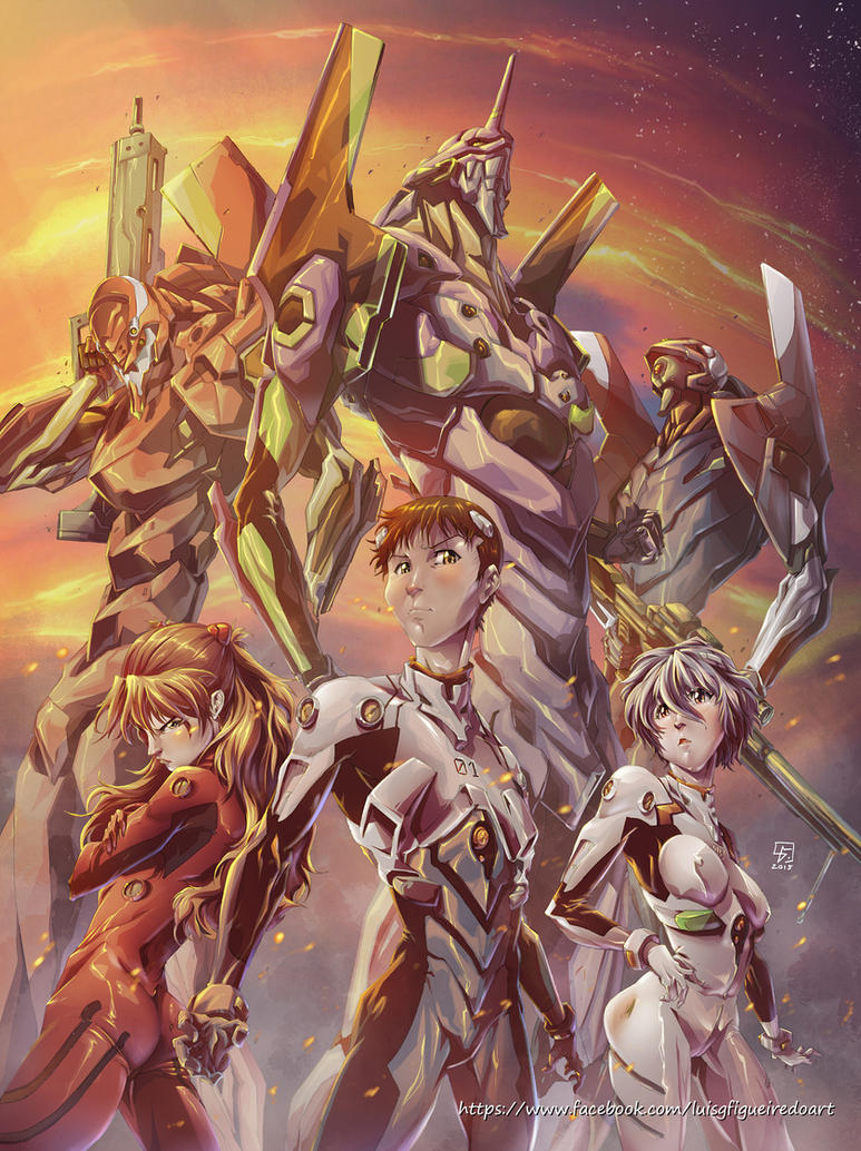 Evangelion Tribute colored by marvelmania