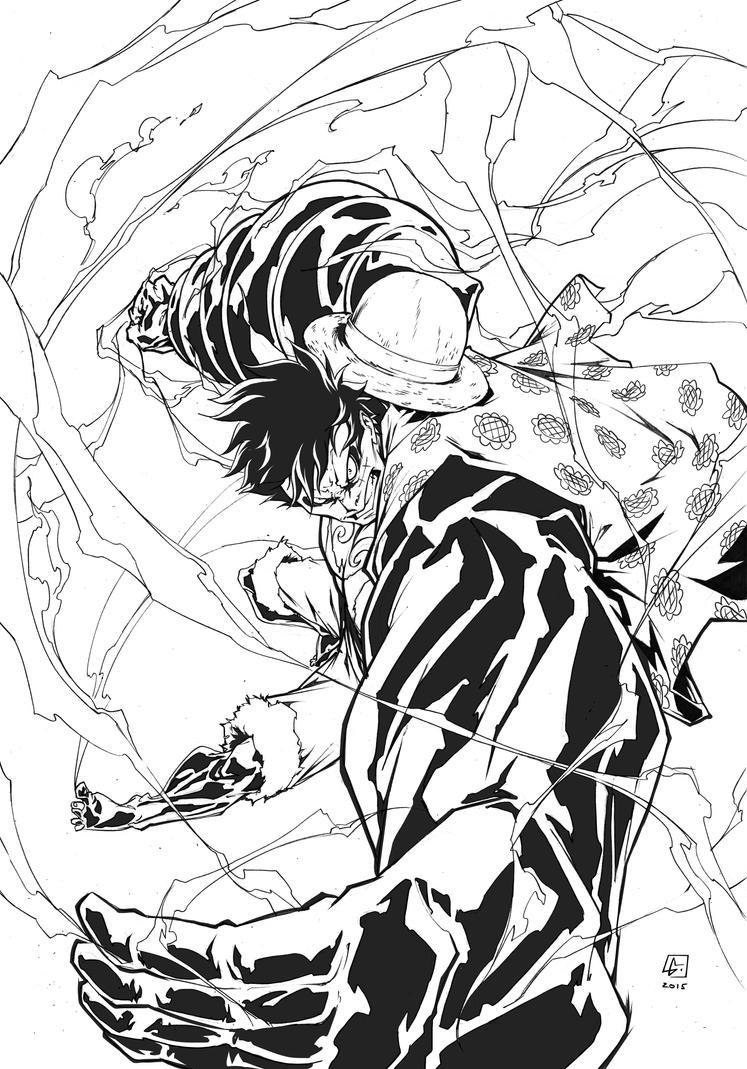 Monkey D. Luffy Fourth Gear by marvelmania