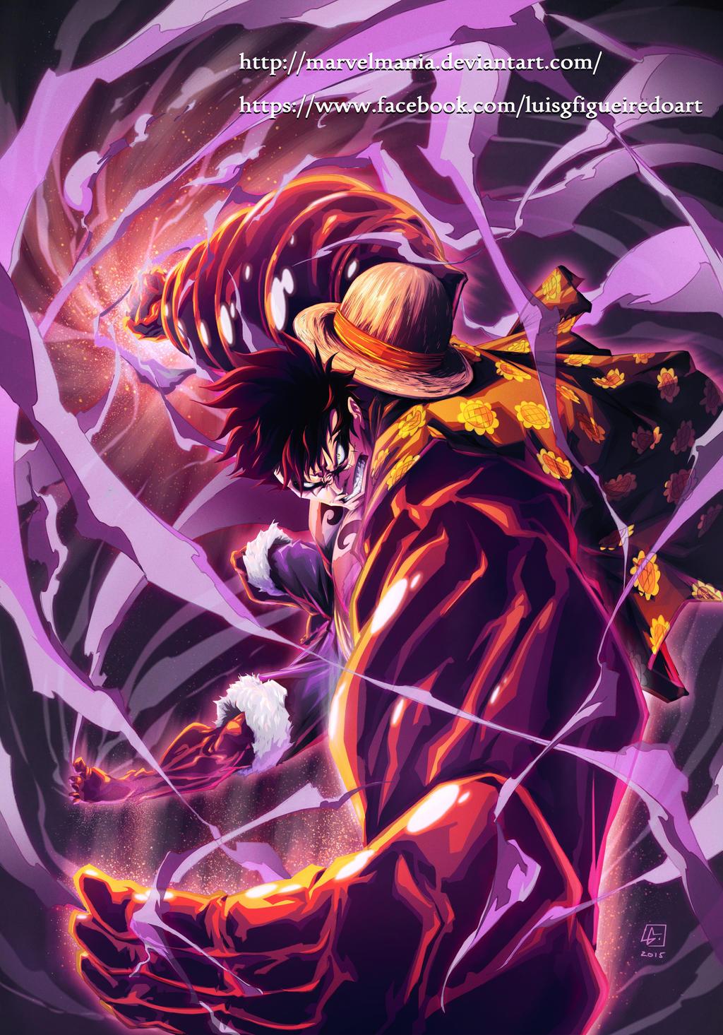 MONKEY D. LUFFY Fourth... One Piece Wallpaper Luffy Gear Fourth