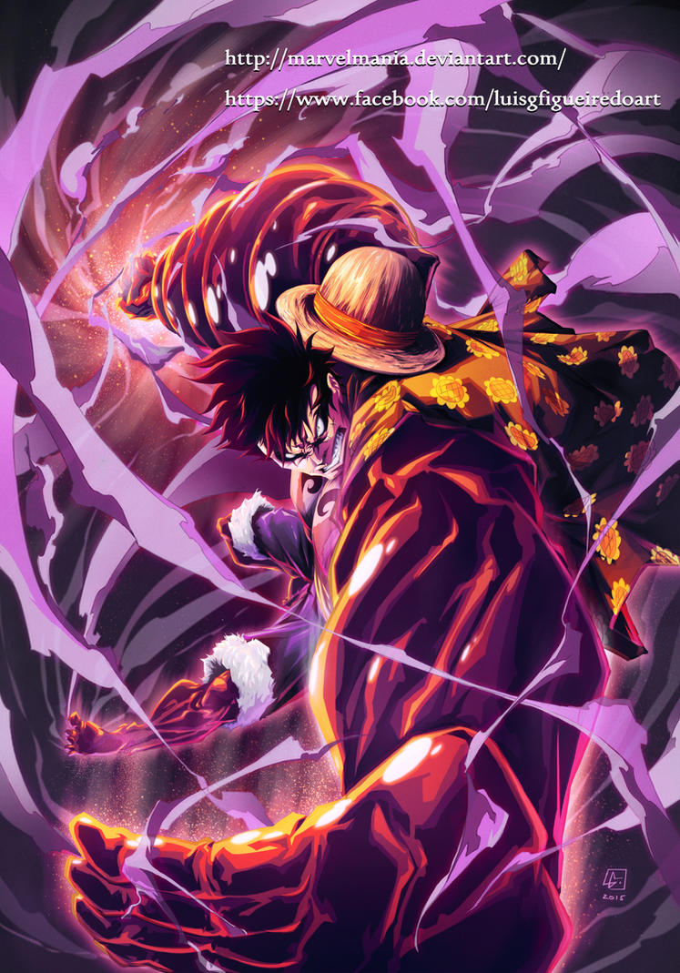 MONKEY D. LUFFY Fourth Gear by marvelmania on DeviantArt