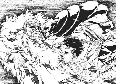 Luffy Gear4 vs Donflamingo