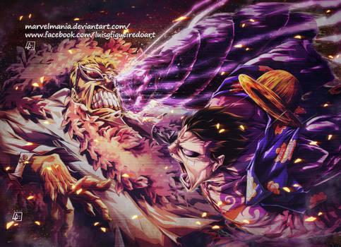Luffy vs Doflamingo Colored