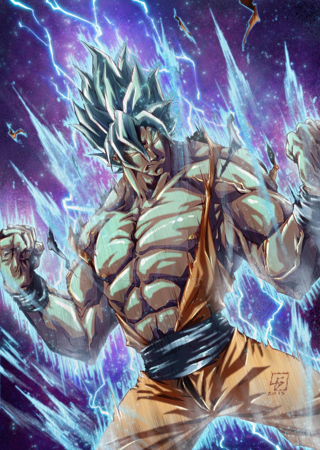 Son Goku God Mode colored by marvelmania on DeviantArt