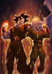 Goku vs Saitama colors