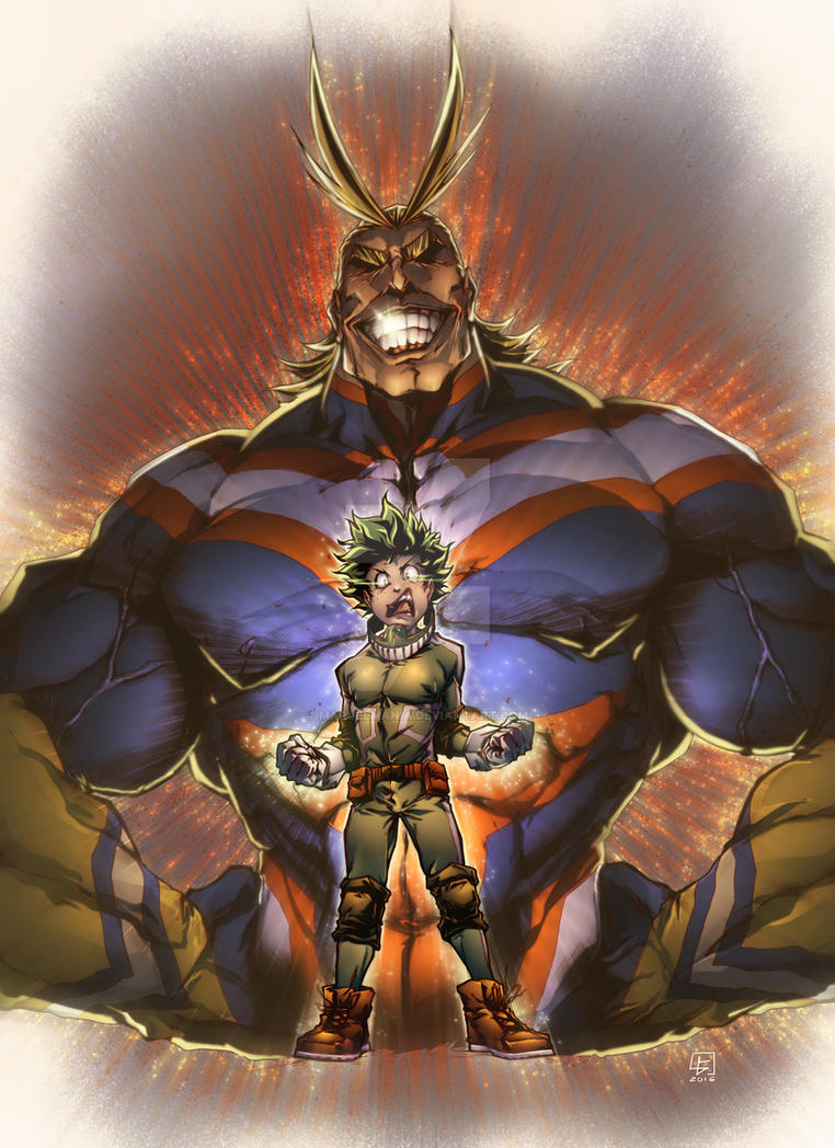 IZUKU MIDORIYA N ALL MIGHT By Marvelmania On DeviantArt