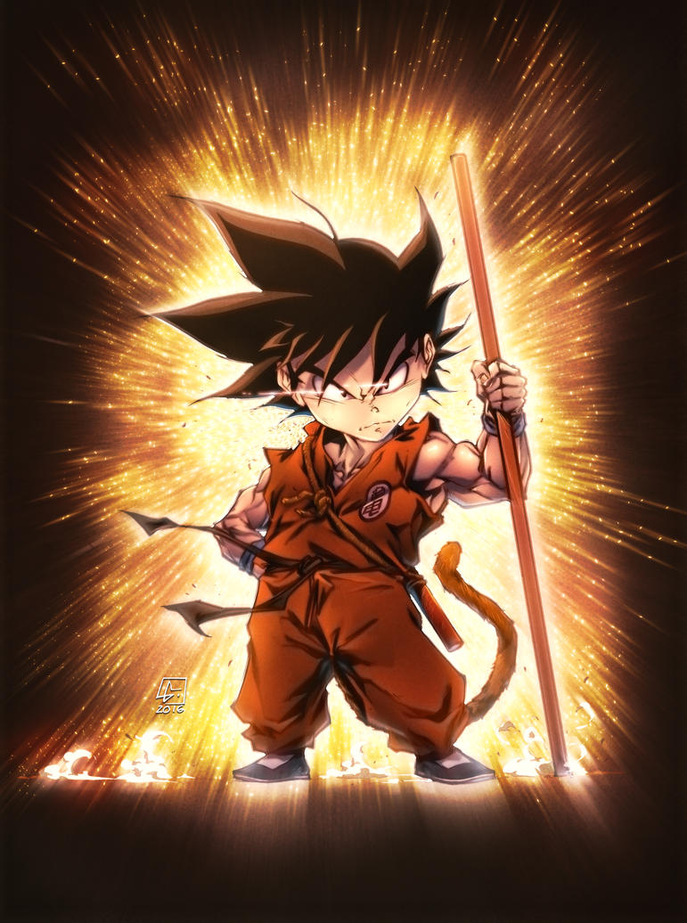 KID GOKU RED SUIT by marvelmania