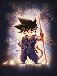 KID GOKU BLUE SUIT